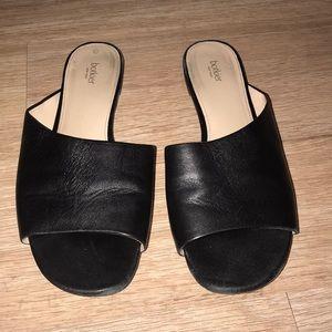 Botkier Magda Black Leather Slides